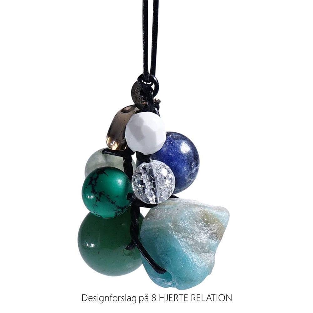 Personligt design halskaede LOVE RELATION 8 HJERTE RELATION aedelsten lava