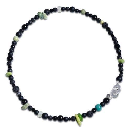 sort/groen Serpentin halskaede spirituel smykke