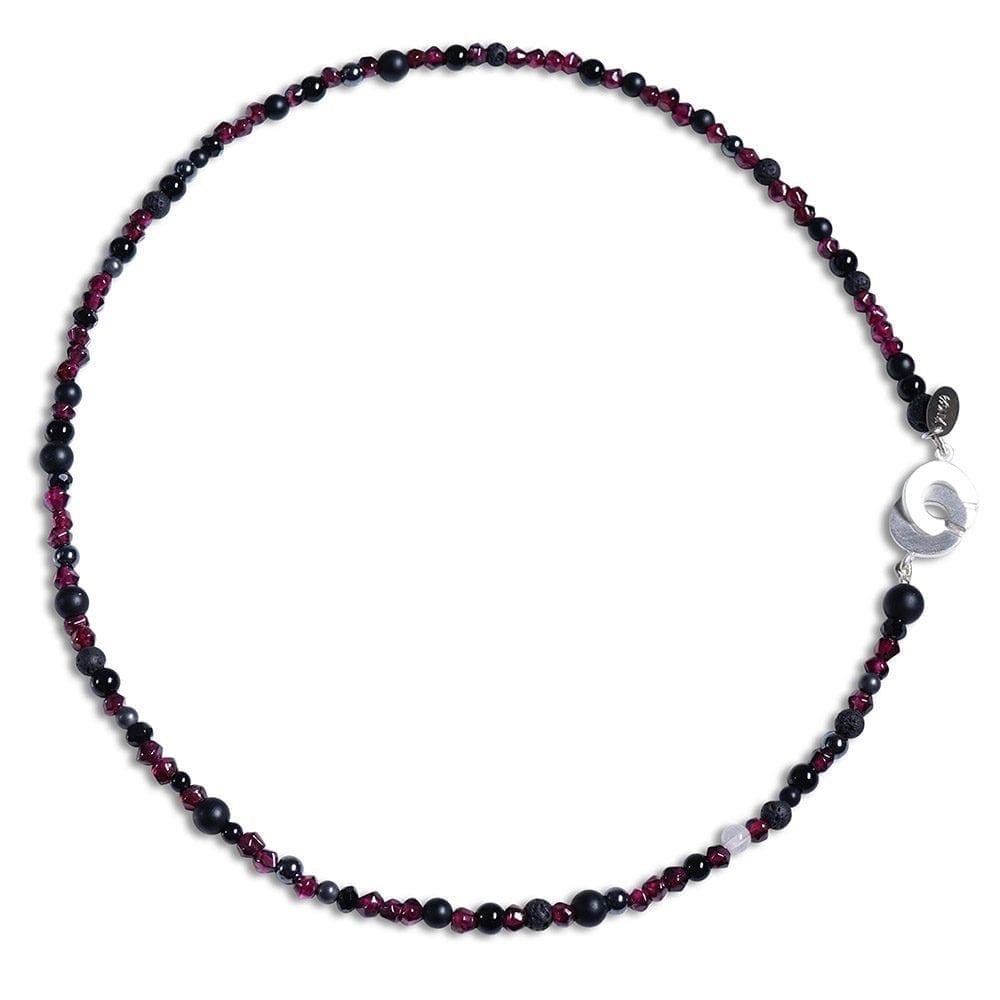 Granat halskæde til kvinder med rosakvarts