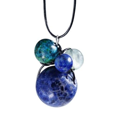 Blå/turkis stjernetegn vedhæng i Sodalit - Stjernetegn halskæde