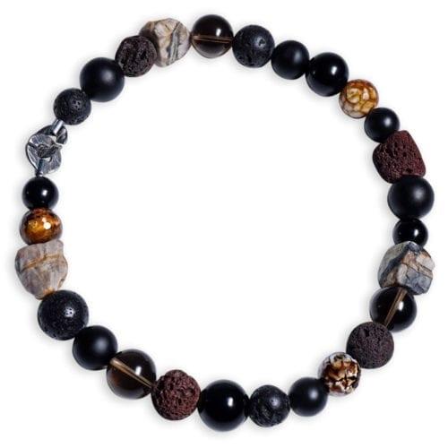 Røgkvarts Halskæde i natur jordfarver - spirituel smykke
