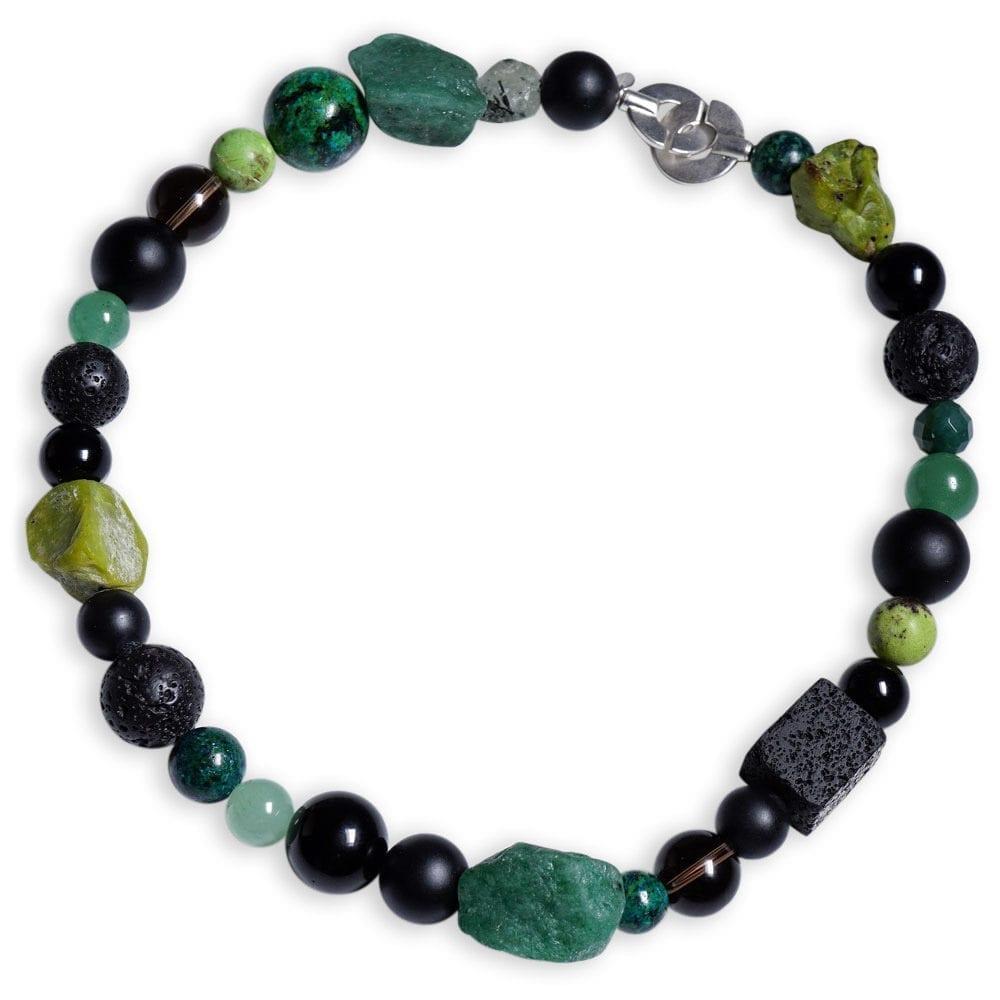 Aventurin Halskæde i grønne og sorte sten - spirituel smykke