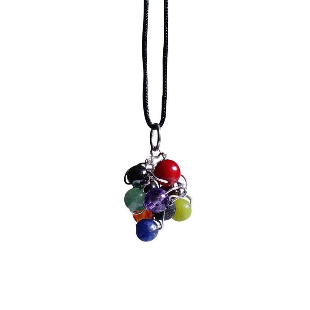 Rainbow sølvvedhæng i INKA farver - kan bruges somhalskæde/ørering