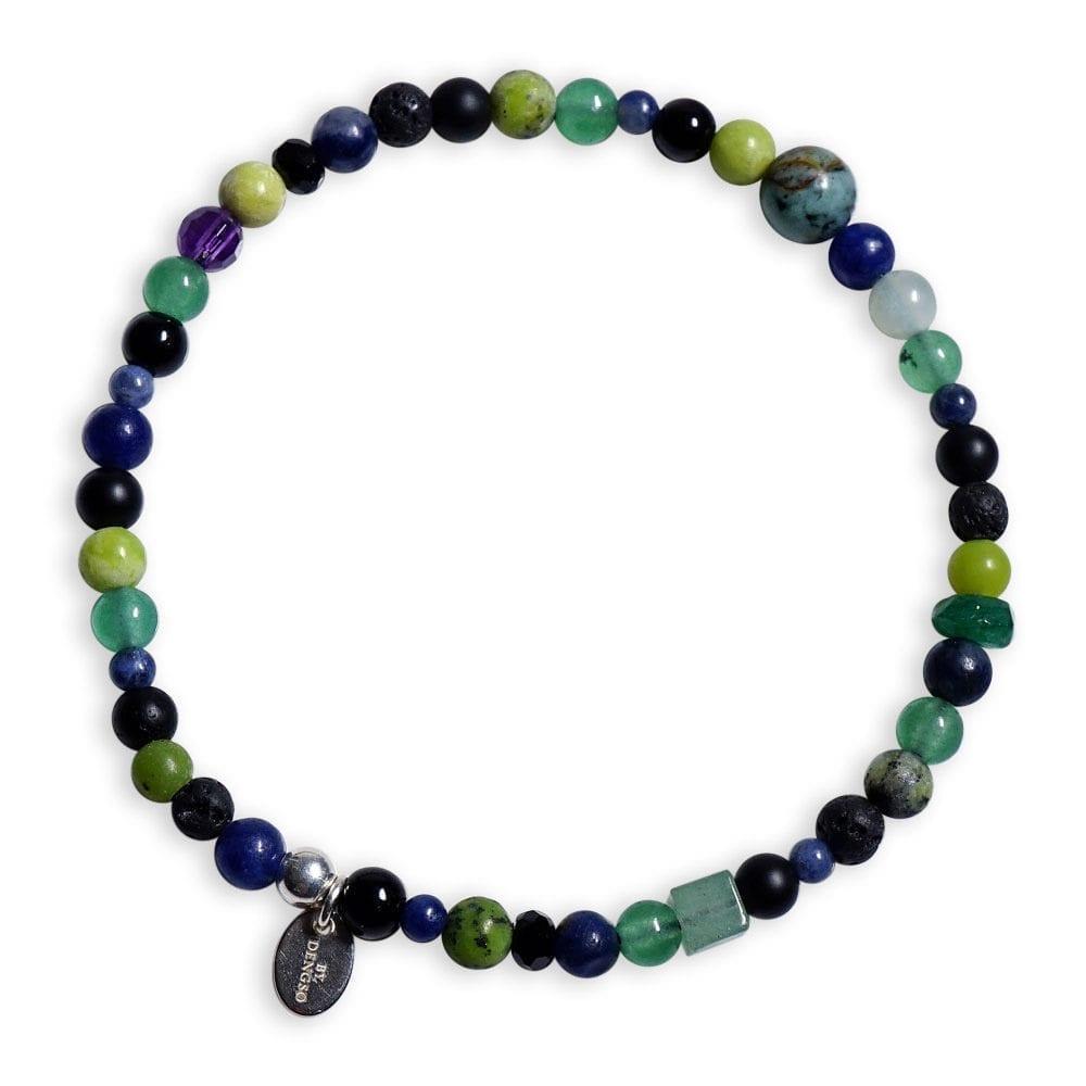 smalt sten armbånd med Afrikansk Turkis i grøn/sort farver