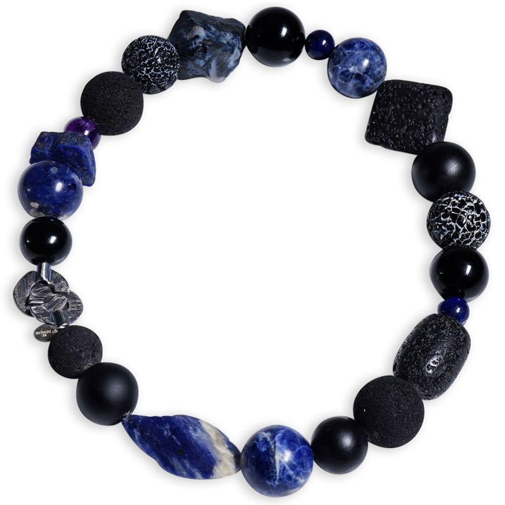 Meget stor sodalit halskæde med lapis lazuli ædelsten - gudinde halskæde