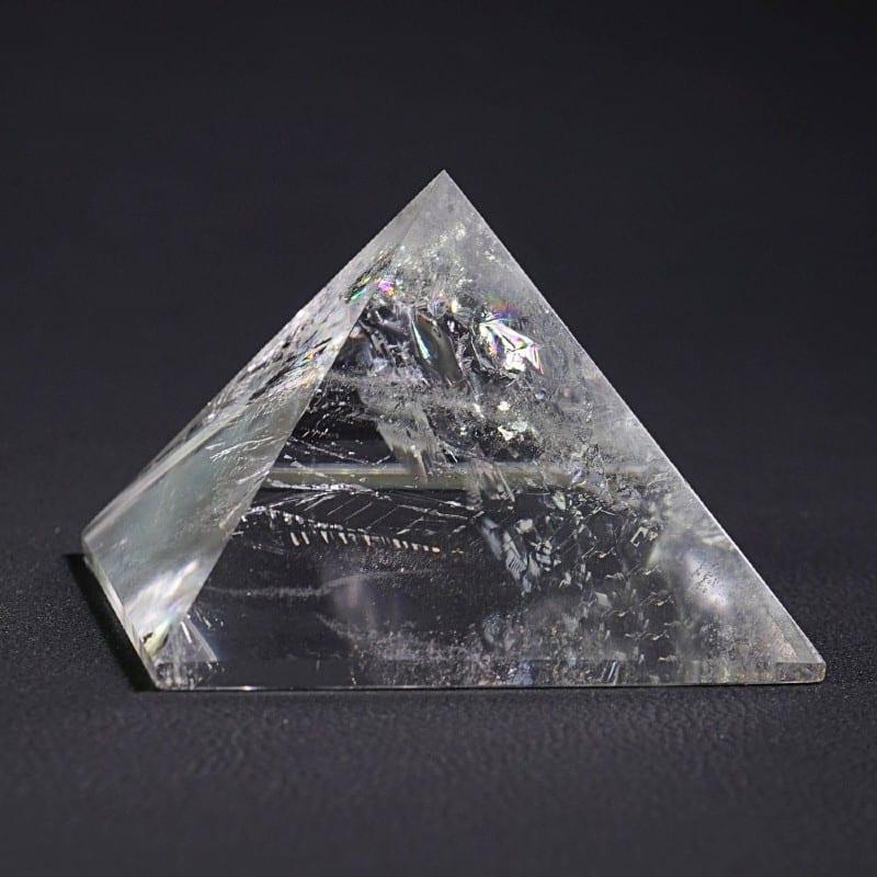 Bjergkrystal Pyramide I Aller Fineste AAA Kvalitet
